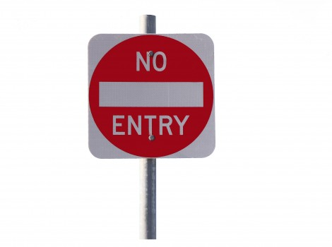 no entry sign not this way wrong direction