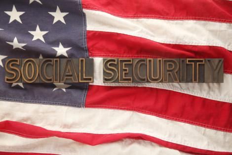 social security American flag
